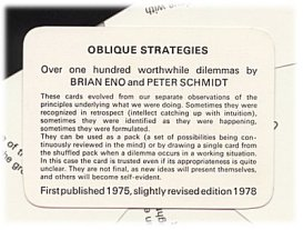 oblique strategies instruction
