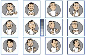 Les 12 émotions évaluées par PrEMO