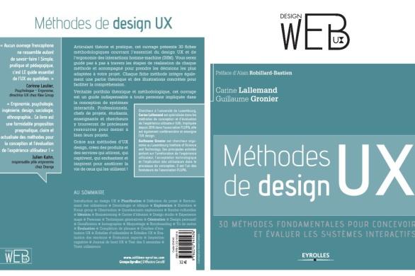 Couverture livre methodes de design UX