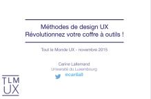 présentation méthodes design UX slides