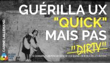 BlendWebMix Talk Carine Lallemand guérilla UX (image de street art de Banksy)