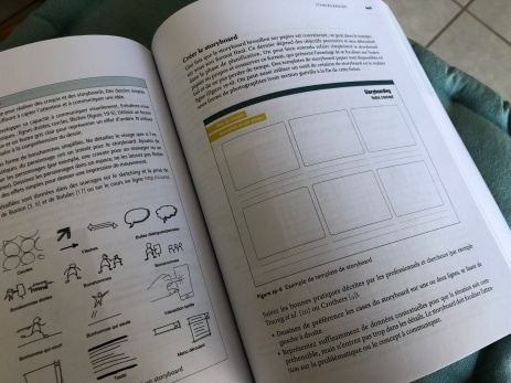 extraits de méthodes de design UX, storyboarding