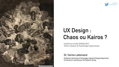 Cover Slide conférence EPIQUE 2019 par Carine Lallemand